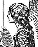 FH Townsend book illustration of the young Jane